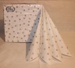 Little stars white linen
